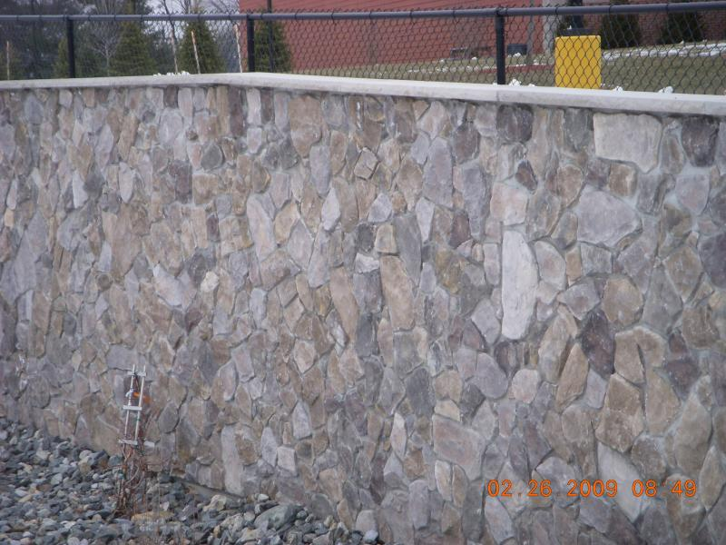 The use of small stone or Faux stone 